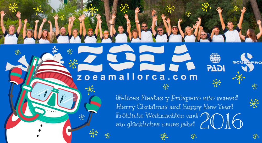 ZOEA Mallorca os desea unas Felices Fiestas